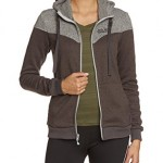 Jack Wolfskin Damen Fleecejacke Caribou Block Jacket Women, Dark Steel, XL, 1702751-6032005