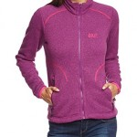 Jack Wolfskin Damen Fleecejacke Caribou Asylum Jacket Women, Mallow Purple, S, 1702551-1117002